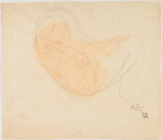 Auguste Rodin (1840-1917) -Les femmes sur les jambes et le dos courbé écartées, le graphite, E1900S