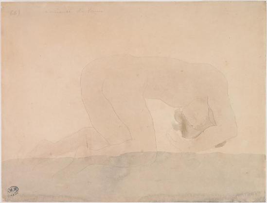 Auguste Rodin (1840 -1917) La Naissance de Vénus, de graphite et aquarelle, 1900