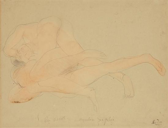 Auguste Rodin-Vents - Aquilon et Zephyr 1900