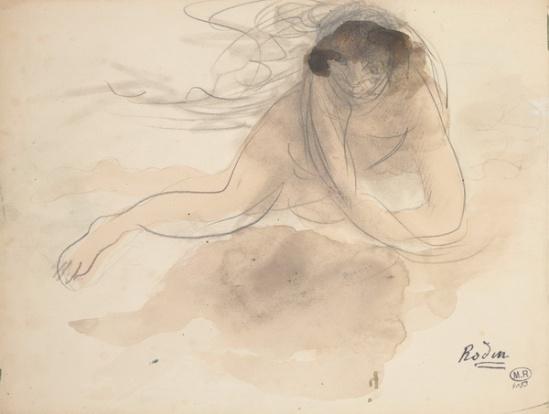 Auguste Rodin - aquelle Cloud et crayon sur papier,