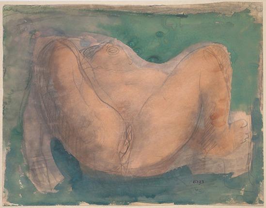 © Auguste Rodin (1840-1917) - Avant le crayon et aquarelle création-1900 sur papier