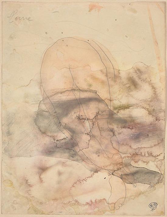 © Auguste Rodin (1840-1917) - La lune en 1900, crayon et aquarelle sur papier