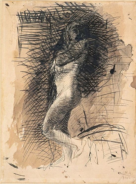 © Auguste Rodin Eve 1884 stylo à l'encre noire,