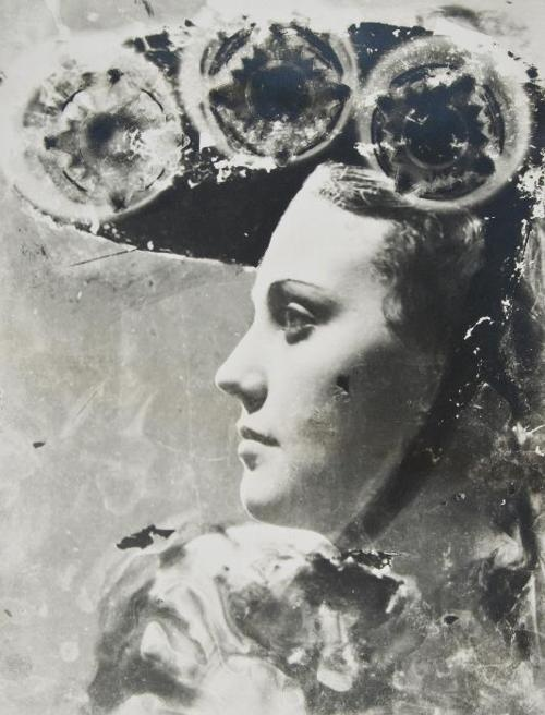 Dora Maar – { Profile Portrait with Glasses and Hat}, 1935