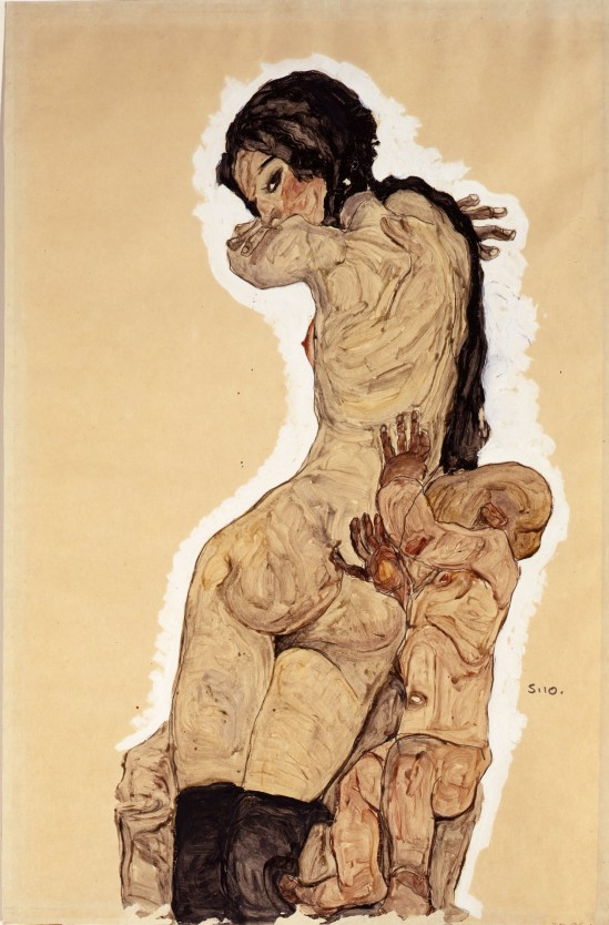 Egon Schiele -Frau mit Homunculus (Woman with Homunculus) ,1910
