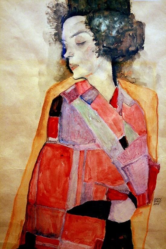 Egon Schiele -Frau (Woman) , 1911