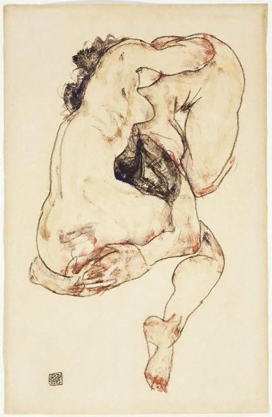Egon Schiele -Studie von einem Paar [ Study of a Couple], 1917