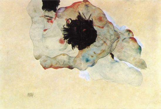 Egon Schiele - Studie von einem Paar[Study of a Couple], 1912