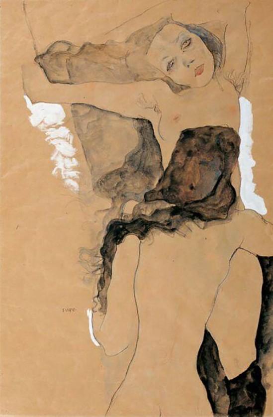 Egon Schiele- Zwei Frauen (deux femmes) , 1911