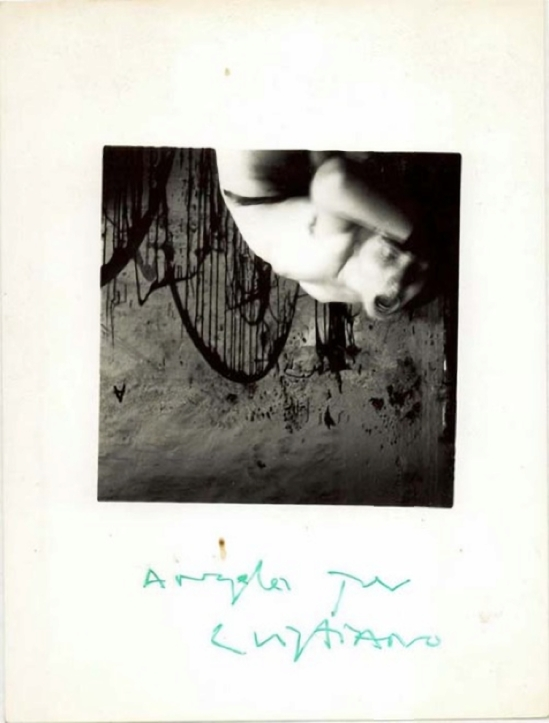 Francesca Woodman-Angelo per Cristiano. Roma, 1977-78  ( George and Betty Woodman)
