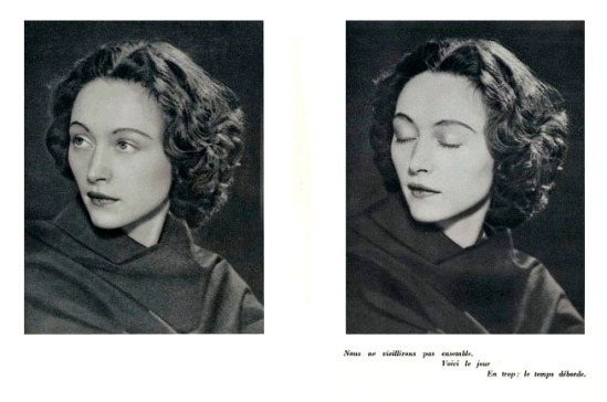 Man Ray- Nush Eluard Le temps déborde , 1947 par Paul Eluard - Photographies Dora Maar & Man Ray. Ed° Les Cahiers d'Art, Paris