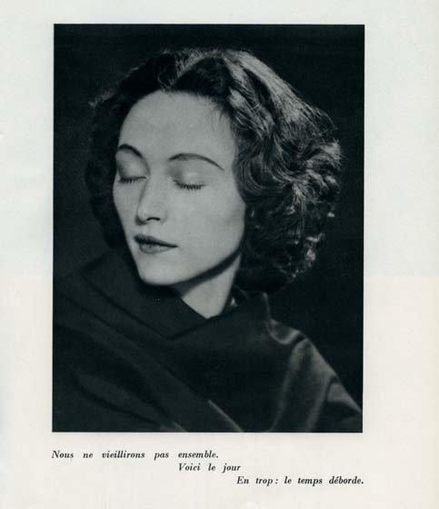 Dora Marr- Nush Eluard , Le temps déborde , 1947 par Paul Eluard - Photographies Dora Maar & Man Ray. Ed° es Cahiers d'Art, Paris