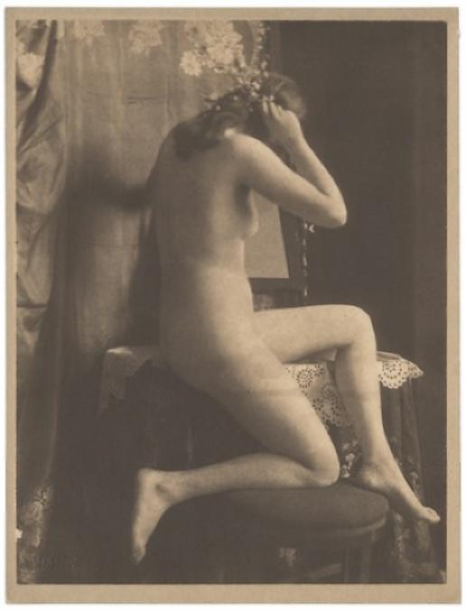 Máté Olga Akt tanulmány (tükör elõtt), 1914