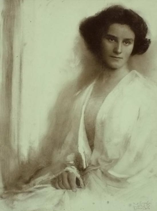 Máté Olga Fehér ruhás nő White-clad woman 1910