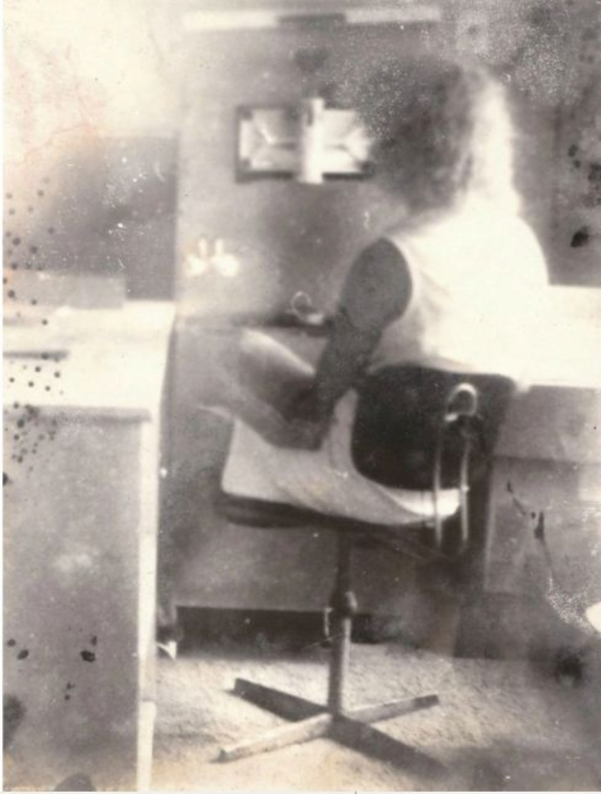 Miroslav Tichý- Woman by an ice cream machine nd (source Zelouna Auction House)