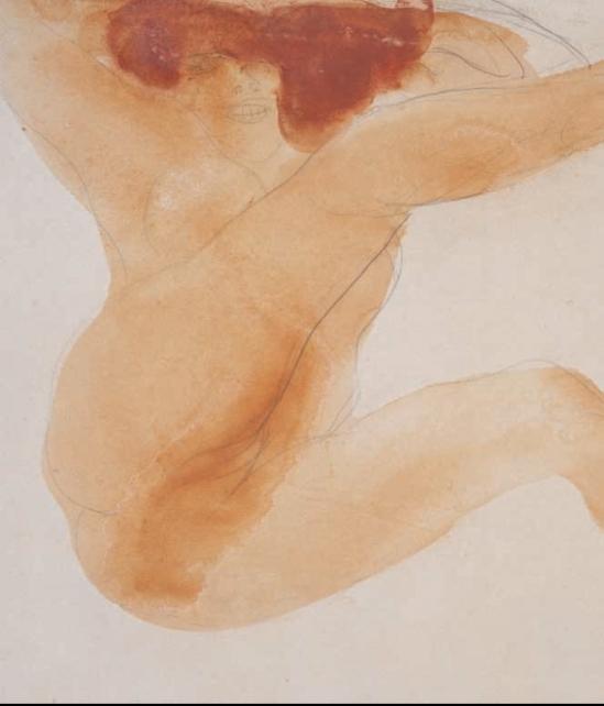 Auguste Rodin- Femme nue avec la main dans les cheveux, la jambe et levées1898-90