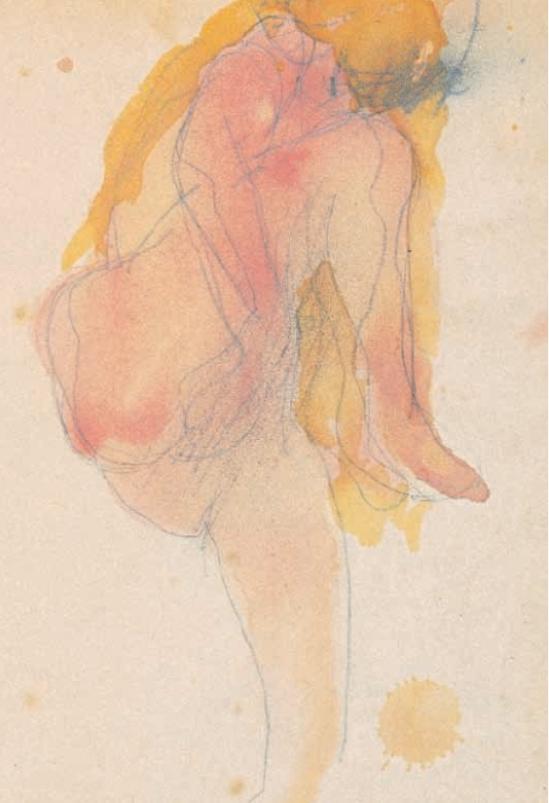Auguste Rodin- Femme nue avec la jambe mainsousla levées1890