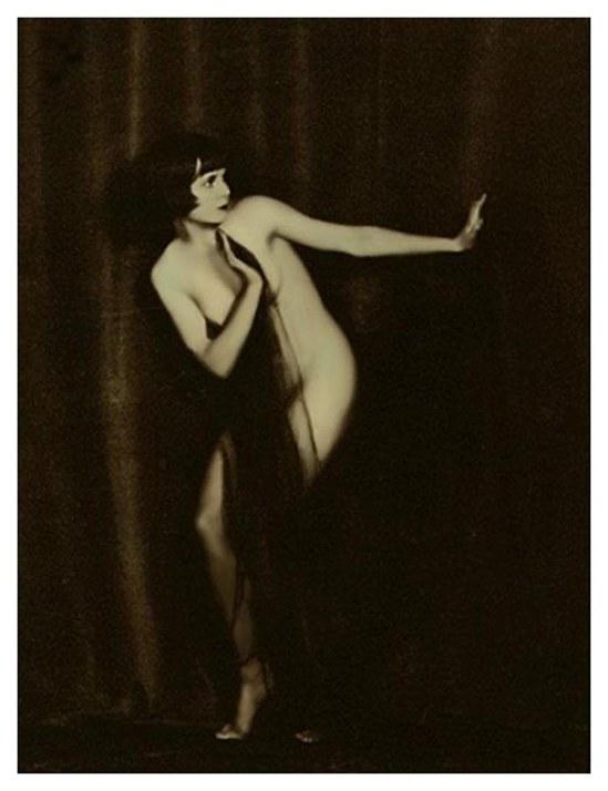 John de Mijian - Louise Brook from series of draped nude, photographs of louise, 1925,