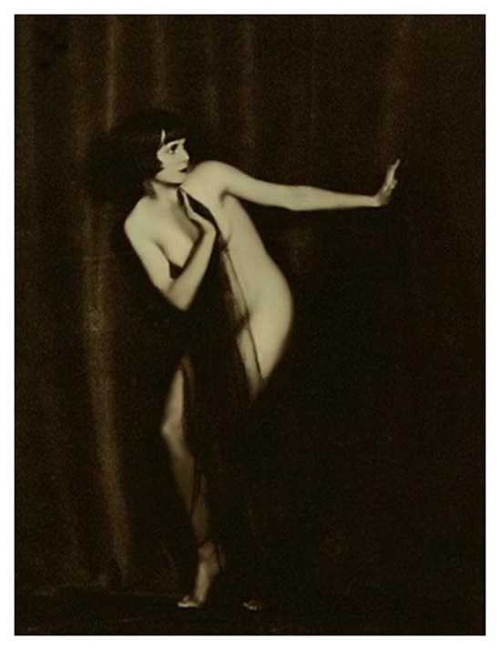 John de Mijian - Louise Brook from series of draped nude, photographs of louise, 1925,