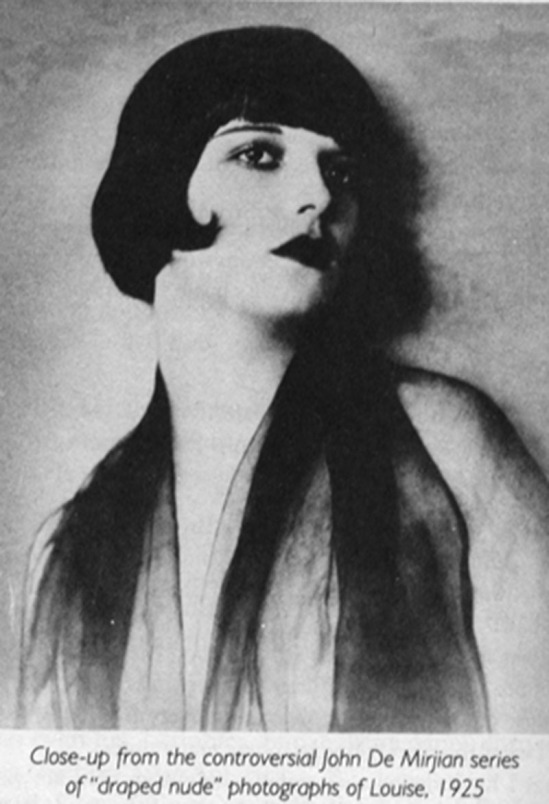 John de Mijian - Louise Brook from series of draped nude, photographs of louise, 1925