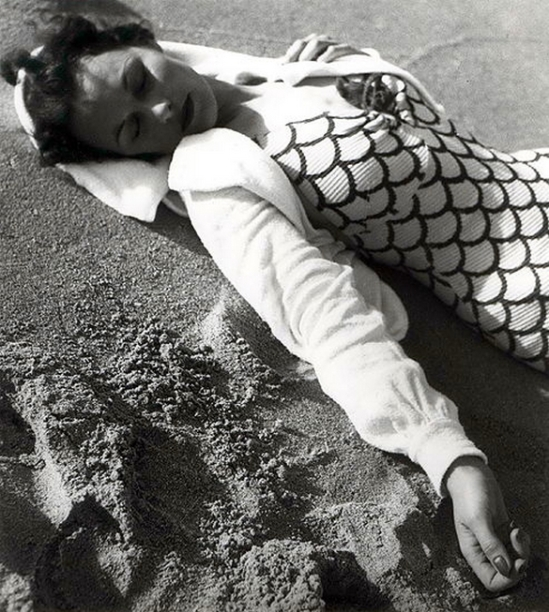 Olive Cotton- Beachwear Fashion Shot c1938