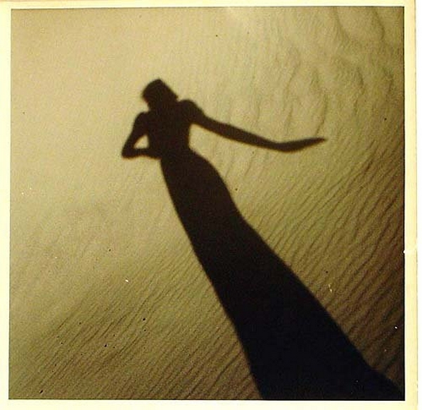 Olive Cotton-[Model's Shadow on Sand], c1937