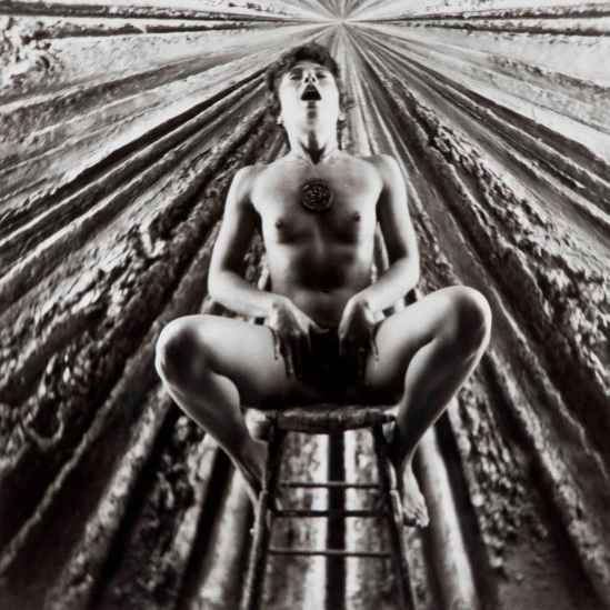 Wallace Berman- Untitled (Jay DeFeo in front of The Rose), nd