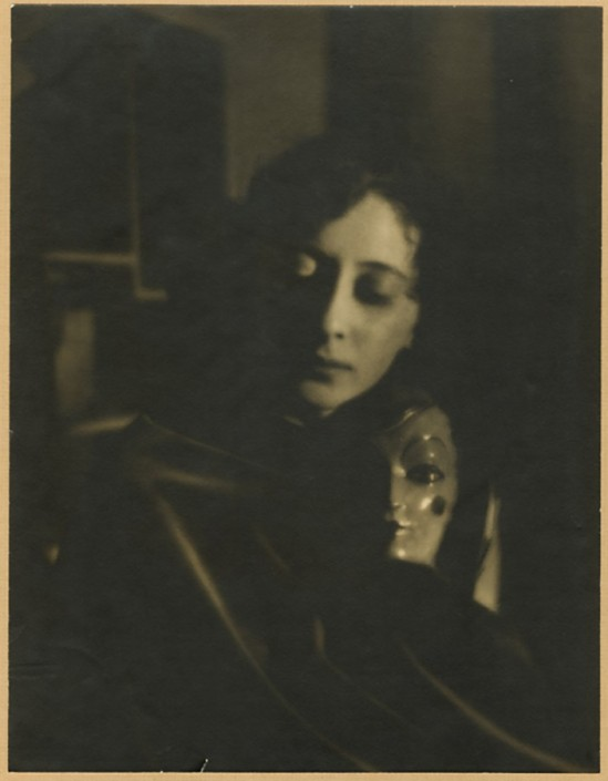 Maurice Seymour - Model (Probably Dancer Ruth Page) with Mask or Head of Doll,1920s