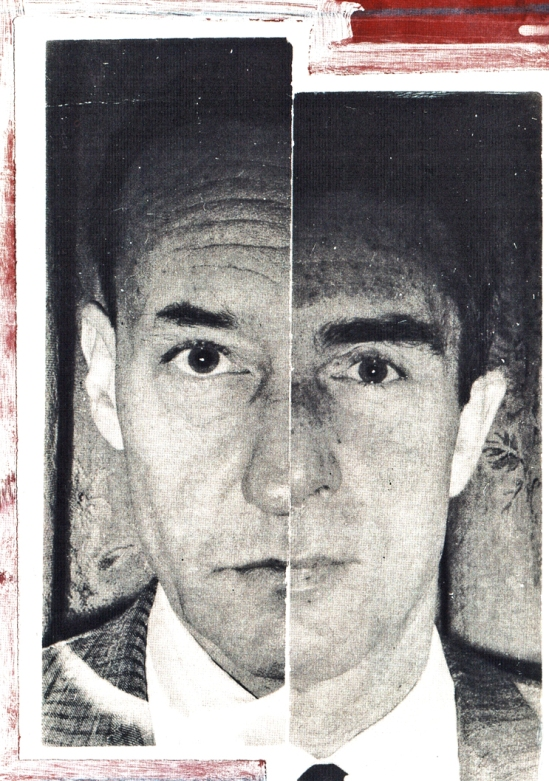 "Ian Sommerville - ""Dyptych"", 1962, a collage portraying William Burroughs and Brion Gysin"