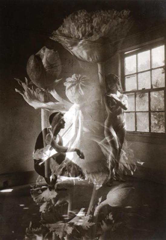 Edmund Teske Bill Allard, Vicky Palermo composite with Poppy, 1964