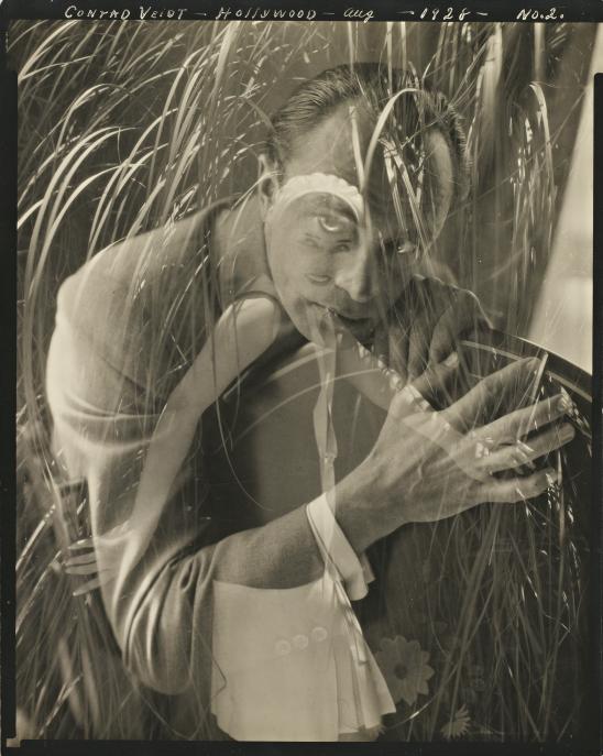 Edward Steichen – Conrad Veidt, Hollywood, August, No. 2 (double exposure with Lupe Vélez), 1928