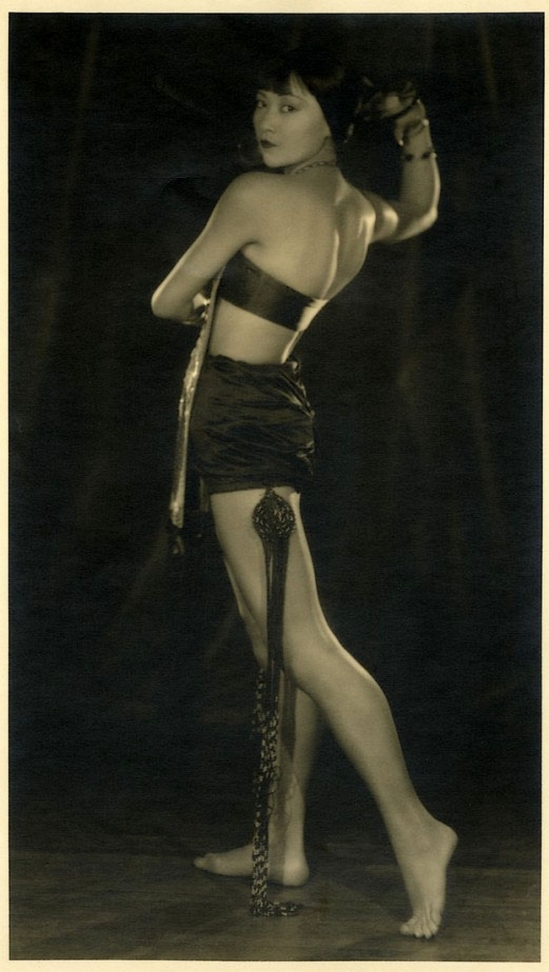 Edwin Bower Hesser -Anna May Wong in a skimpy costume, 1920-1925
