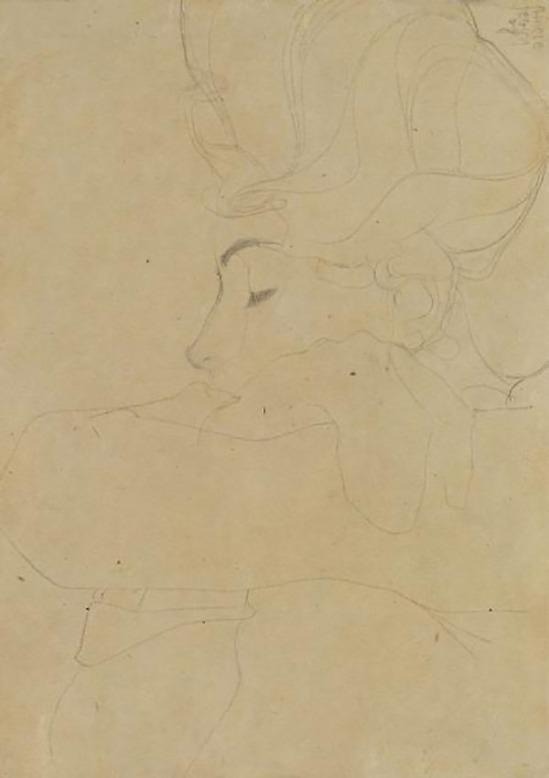 Egon Schiele, Porträt einer Dame( Portrait of a Lady), 1908