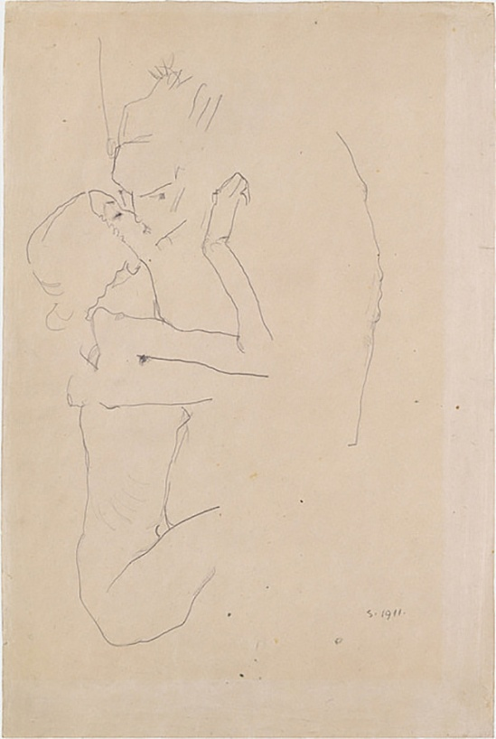 Egon Schiele -Der Kuss (The Kiss) , 1911