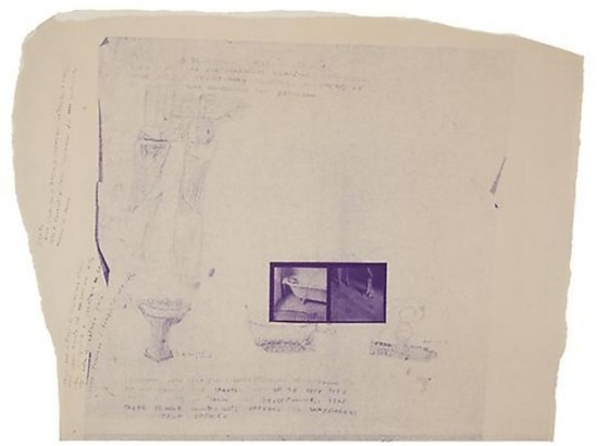Francesca Woodman- projet a blue print for a temple ,New York, 1980