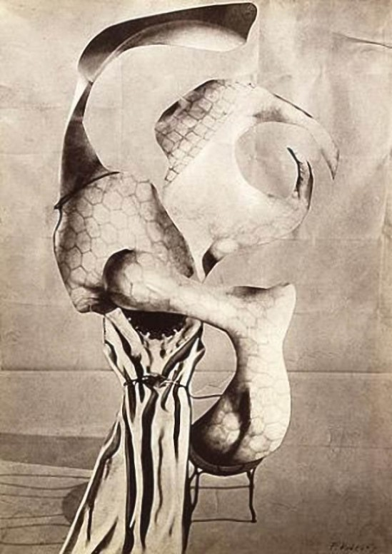 František Vobecký -  A Melancholic Day, 1936 photomontage