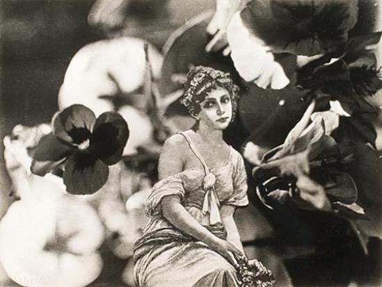 František Vobecký- Girl in Flowers , 1936