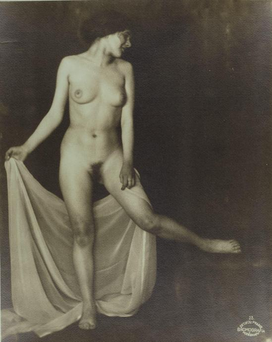 frantisek-drtikol-1883-1961-standing-nude-with-veil-1923-vintage-silver-print-bromografia-on-blue-toned-paper-printed-in-the-1920s