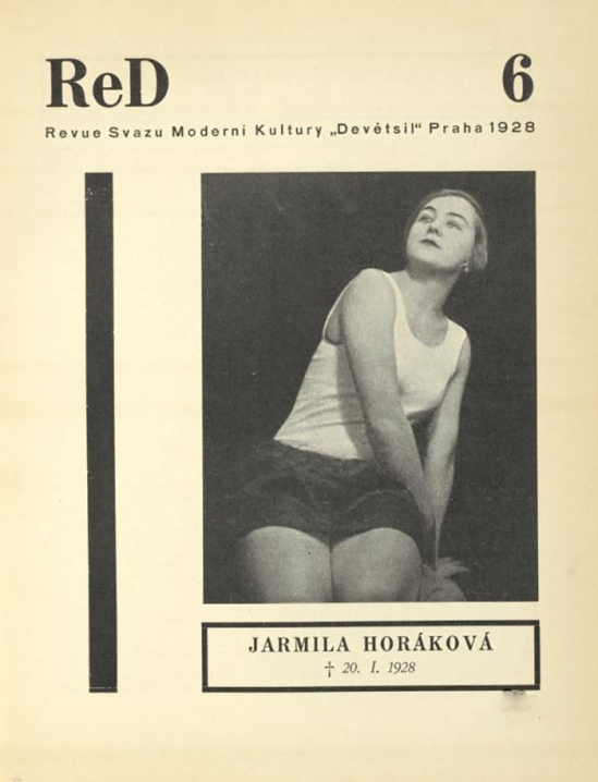 Jarmila Horáková, 20.1.1928 from ReD published by Karel Teige), issue6 , 1929