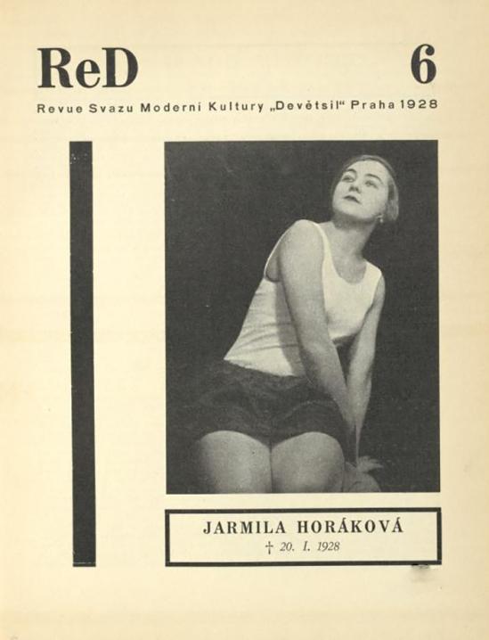 Jarmila Horáková, 20.1.1928 from ReD published by Karel Teige), issue6 , 1929