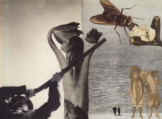 Jindřich Štyrský, Vilém Tell, 1931. Collage, paper, 28.5 x 39.5 cm. (Ubu Gallery NY and Galerie Berinson, Berlin)