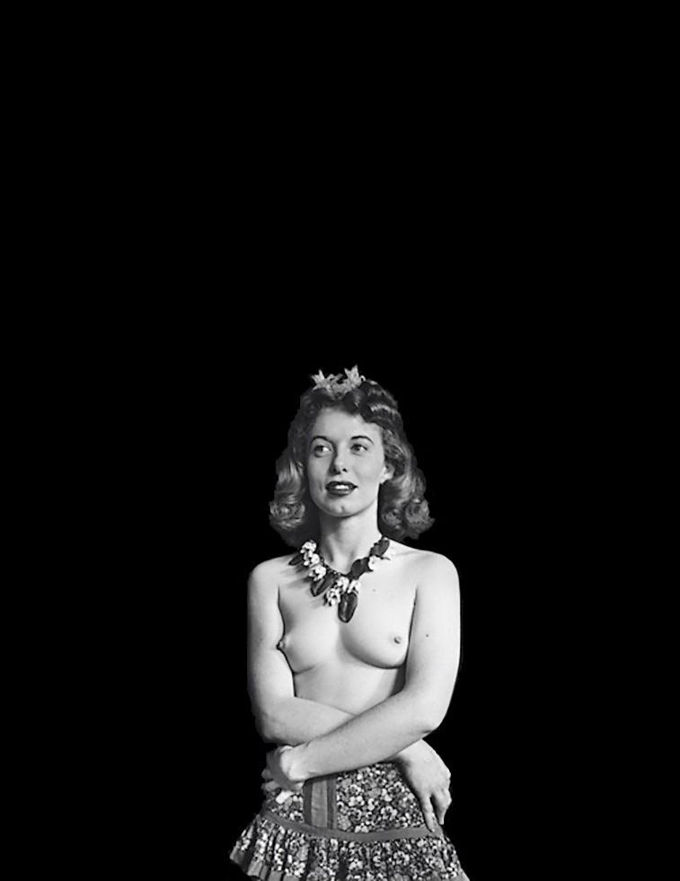 John Gutmann-Blonde Topless in Black Space, 1939
