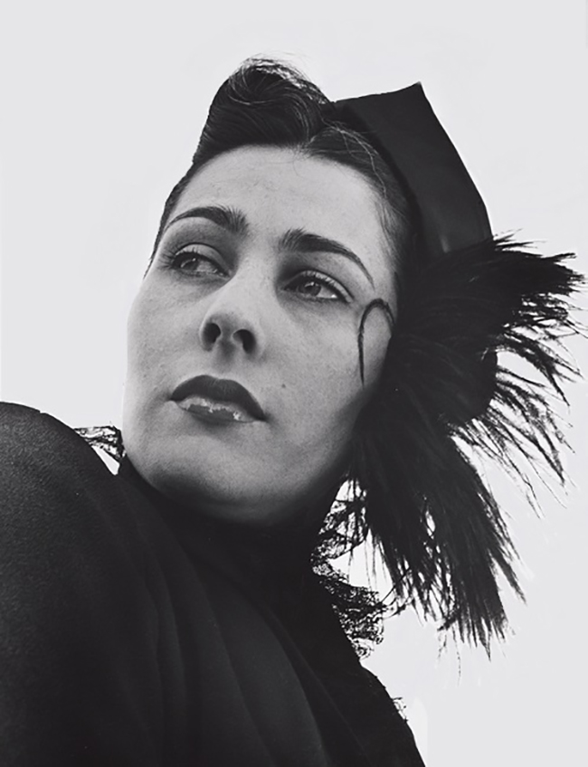 John Gutmann-Feather Hat and Black Lace( gerrie von pribosic gutmann), 1951