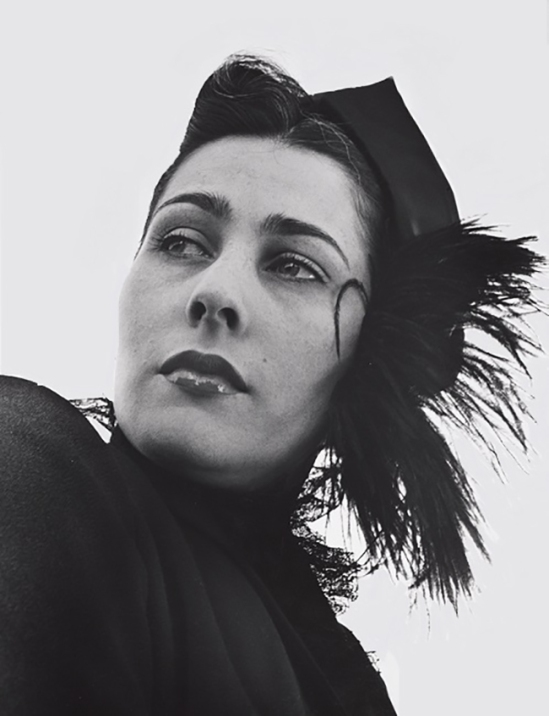 John Gutmann-Feather Hat and Black Lace( gerrie von pribosic gutmann), 1951