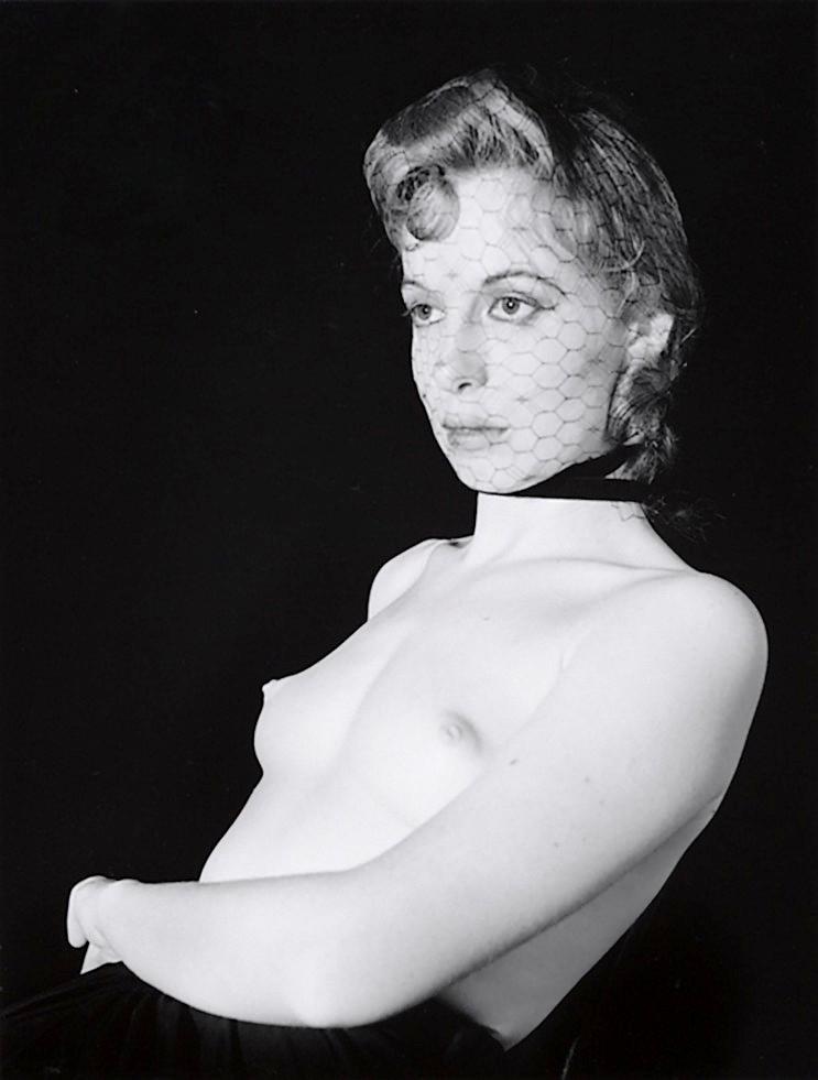 John Gutmann-Half-Nude with Veiled Face 1939