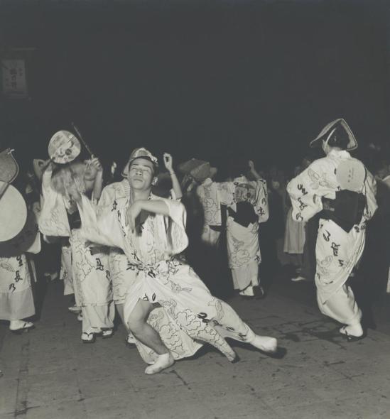 Josef Breitenbach- Dancing in the Streets (Bon Odori), Kyoto, 1956