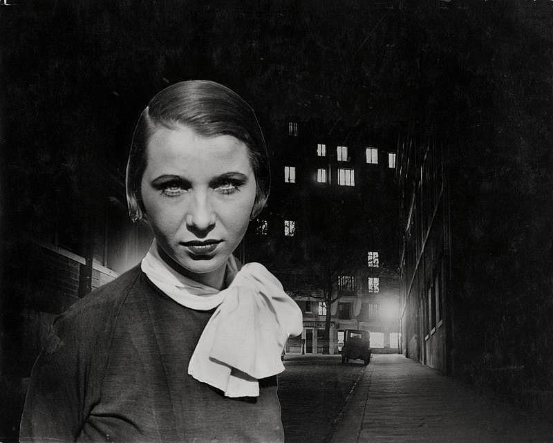 Josef Breitenbach- Night, Paris (Edith Schultze-Westrum)c. 1935, Vintage gelatin silver print collage