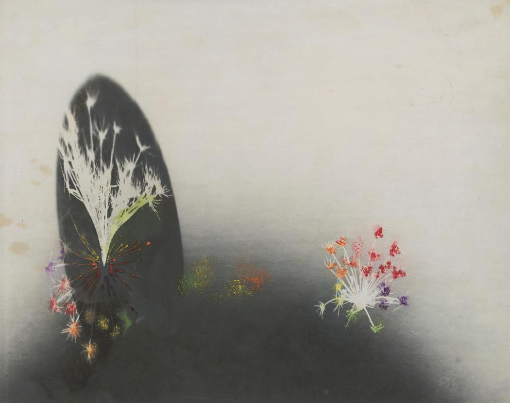 Josef Breitenbach-Untitled , photogram , hand-colored , 1940s  © The Josef Breitenbach Trust