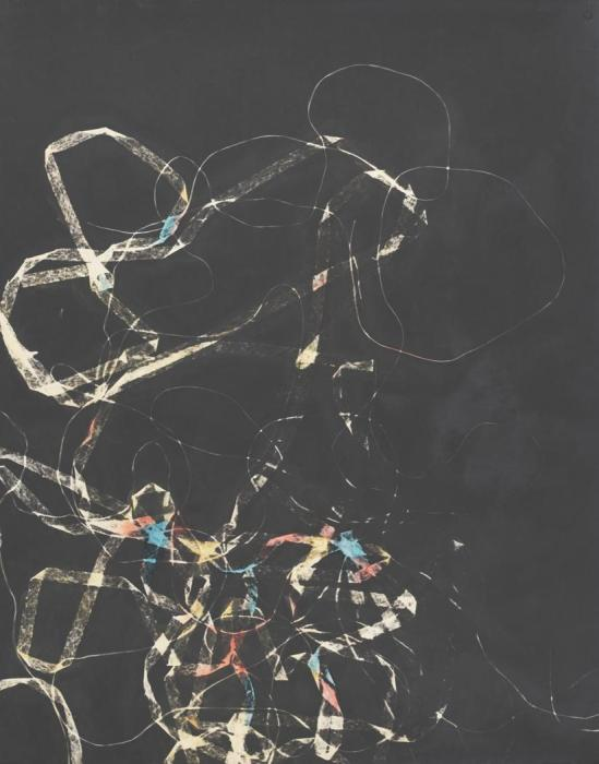 Josef Breitenbach-Untitled , photogram , hand-colored , 1940s    © The Josef Breitenbach Trust