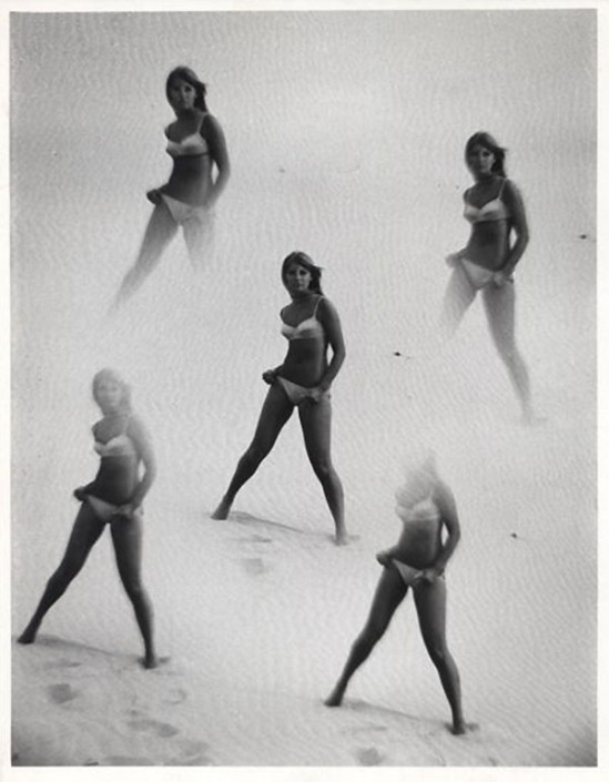 Laurence Le Guay- Quintet Of Bikinis, 1960s. Vintage silver gelatin print.